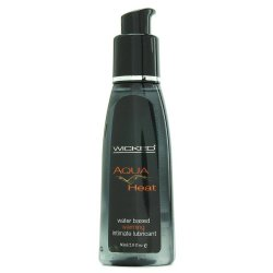 Wicked Aqua Heat Water Based Warming Lubricant - 2 Oz.
